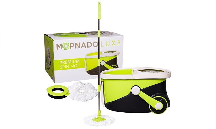 Stainless Steel Deluxe Rolling Spin Mop By Mopnado Review